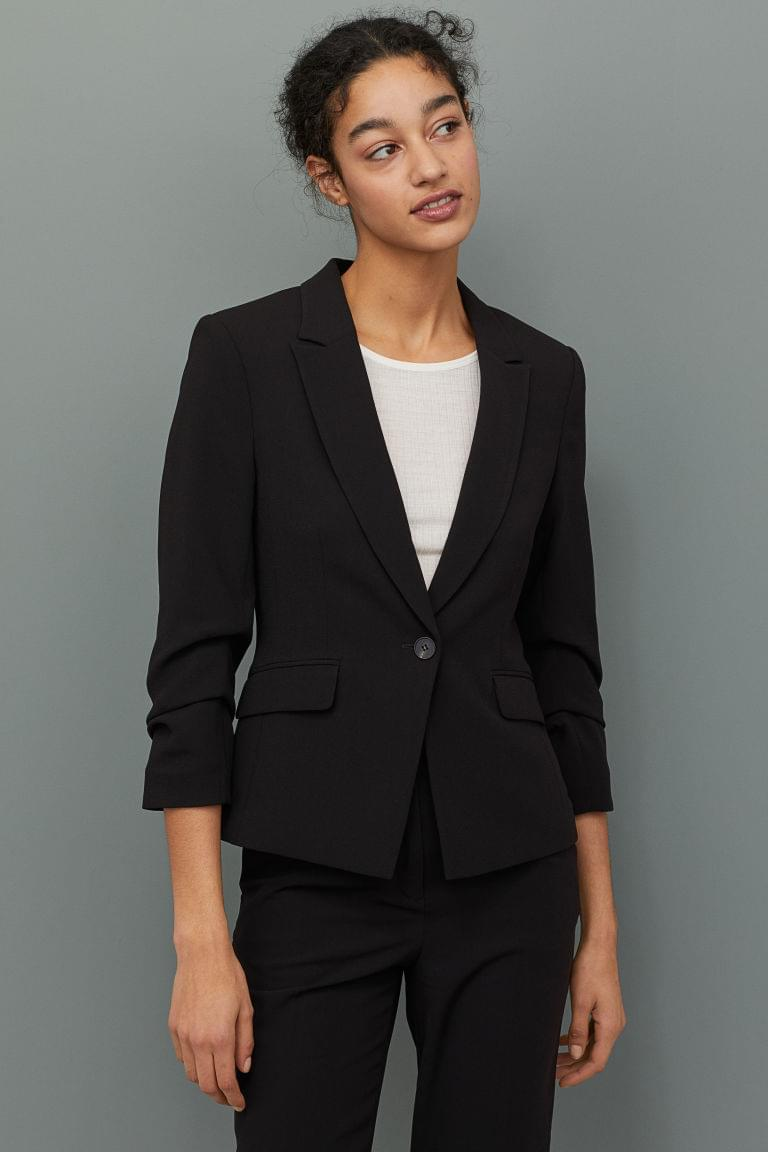 Women's Jacket with Gathered Sleeves