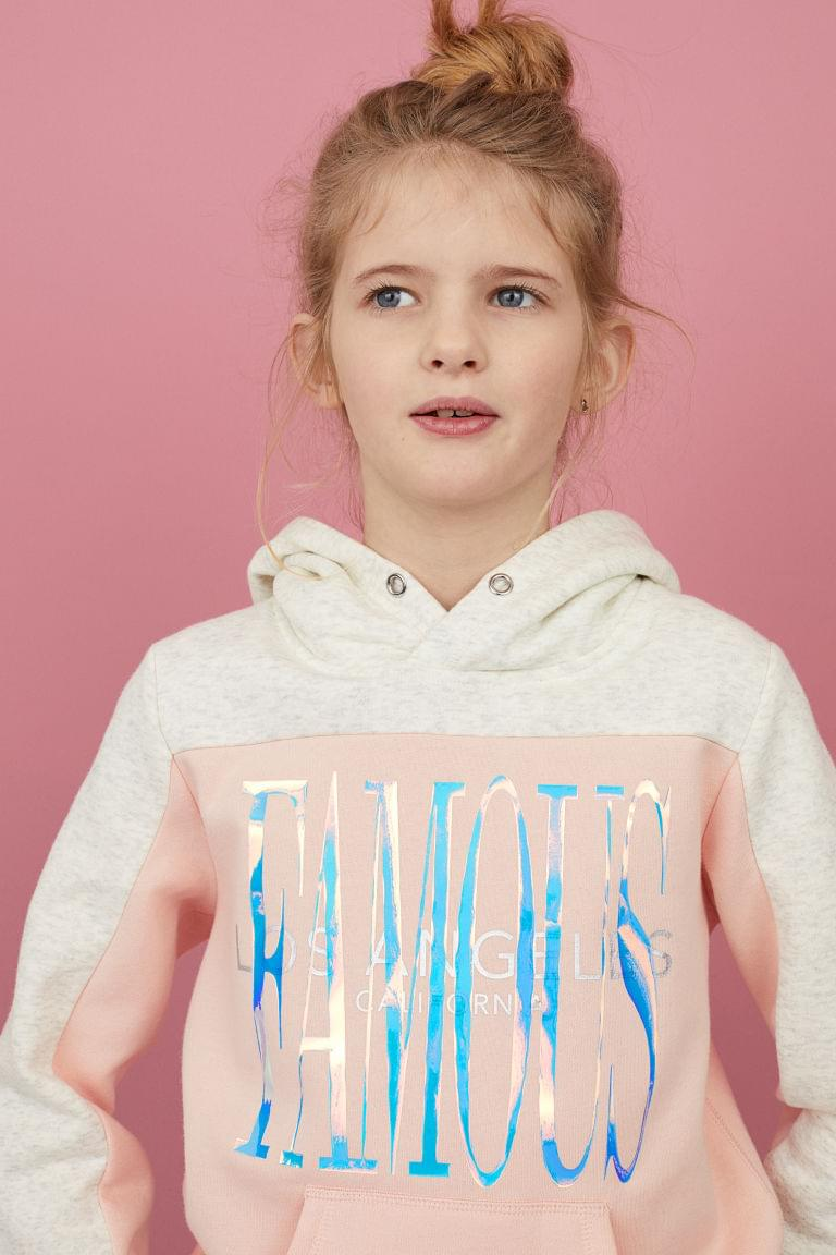 Girl's Printed Graphic Hoodie