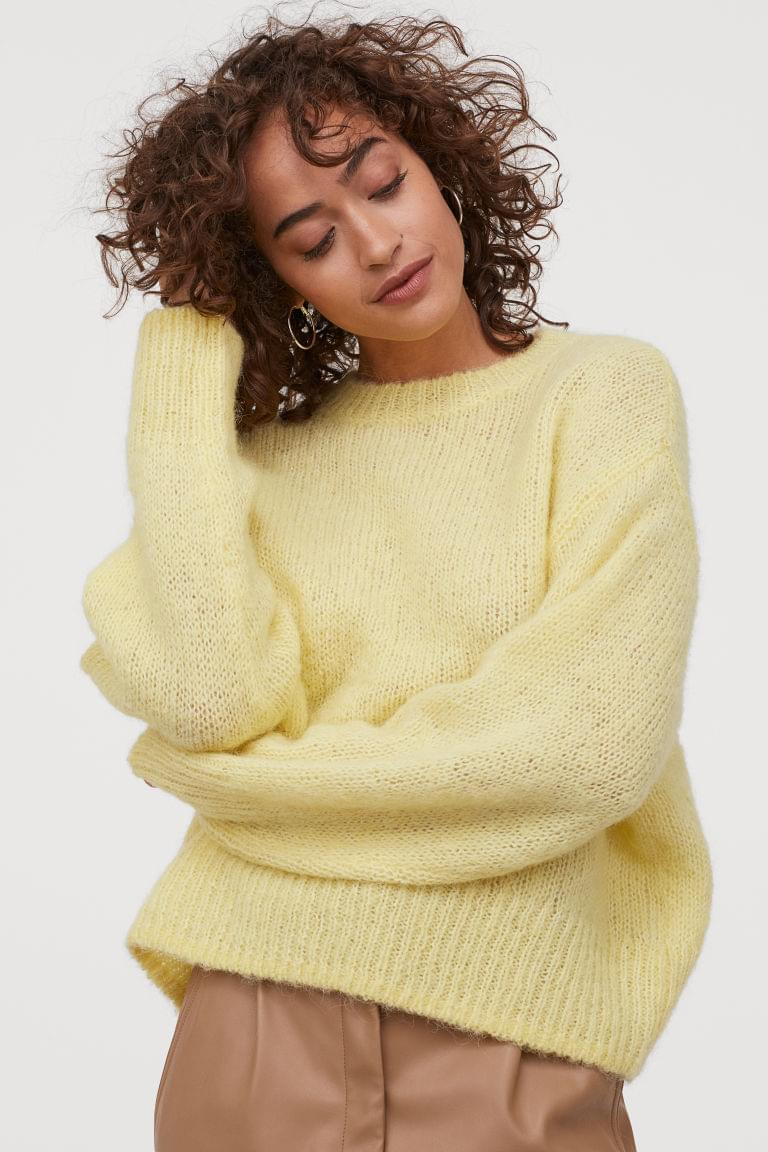 Women's Knit Wool-blend Sweater