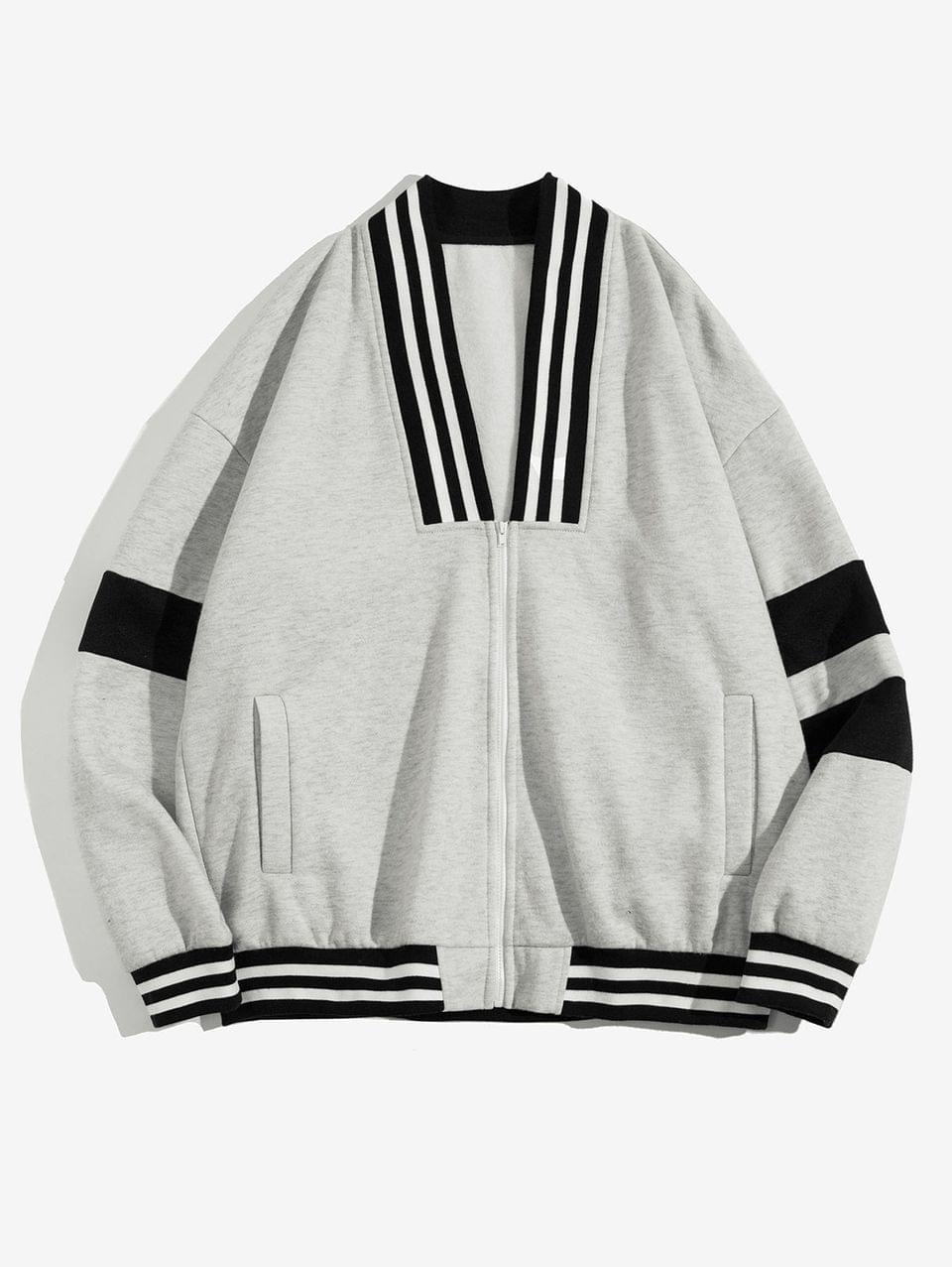 Men's Colorblock Striped Drop Shoulder Fleece Sweatshirt - Multi 2xl