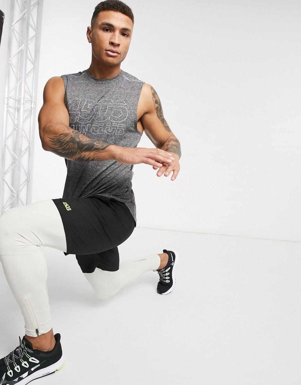 Men's 4505 icon running tights with zips and quick dry