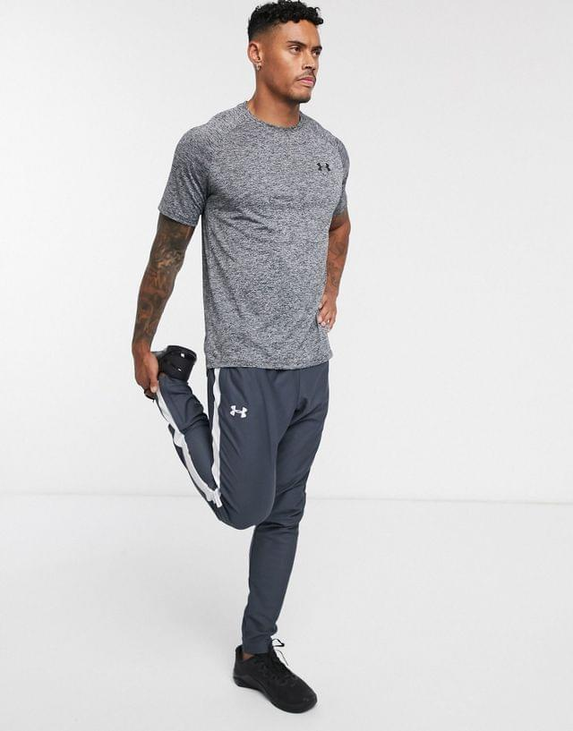 MEN Under Armour Training pique track pants in grey