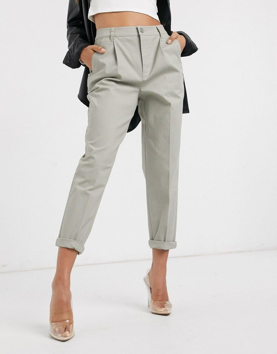 Women's Petite chino pants in sage
