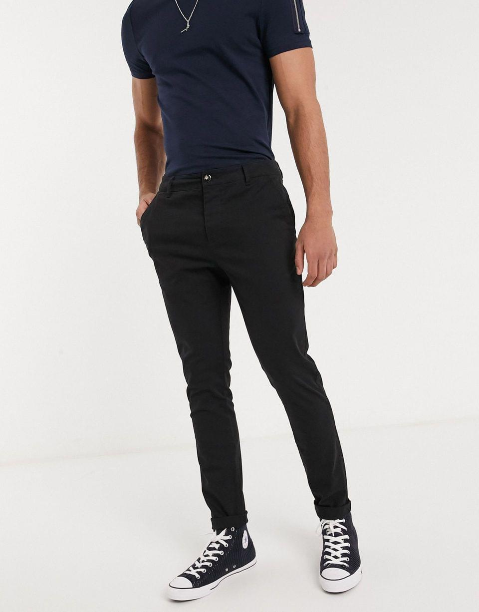 Men's co-ord skinny blazer and chinos in black