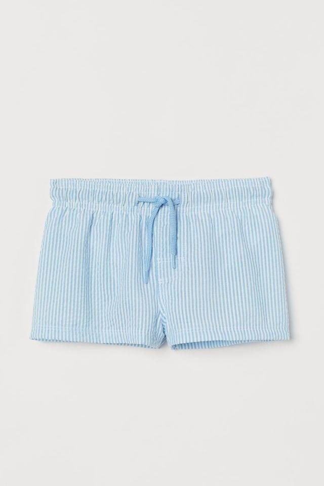 Boy's Seersucker Swim Shorts