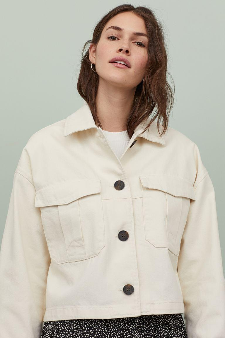 Women's Twill Shirt Jacket