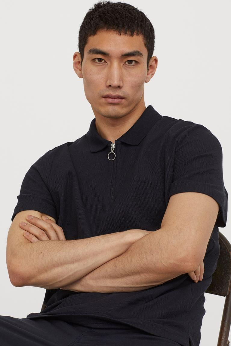 Men's 1/4-Zip Polo Shirt