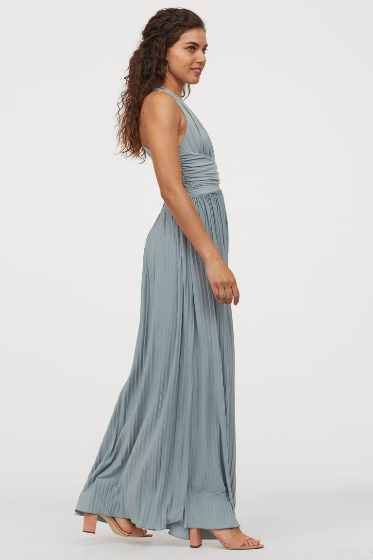 Women's Pleated Maxi Dress