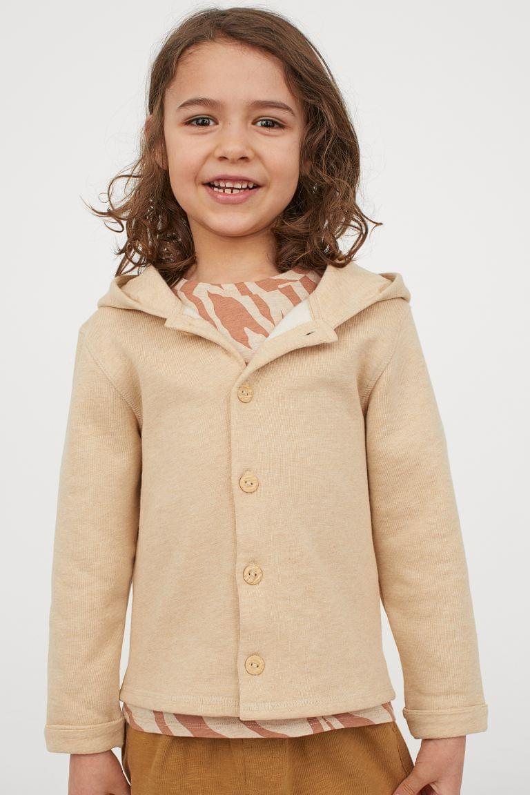 Boy's Hooded Cardigan