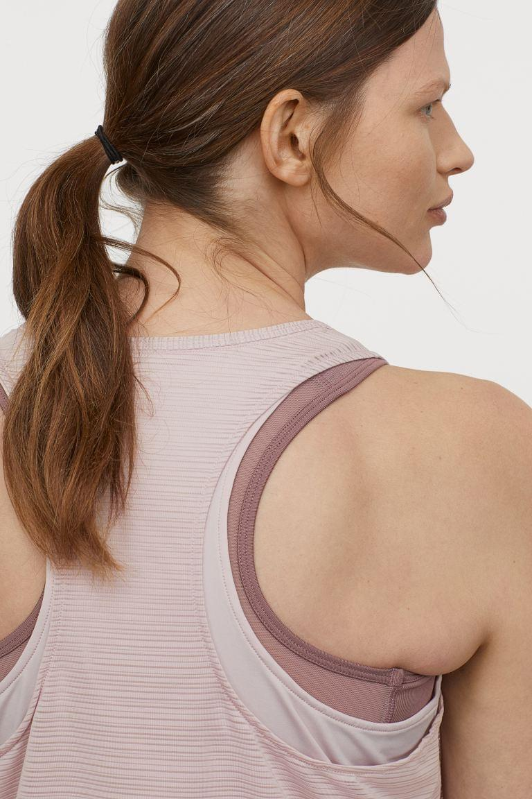 Women's MAMA Double-layered Sports Top