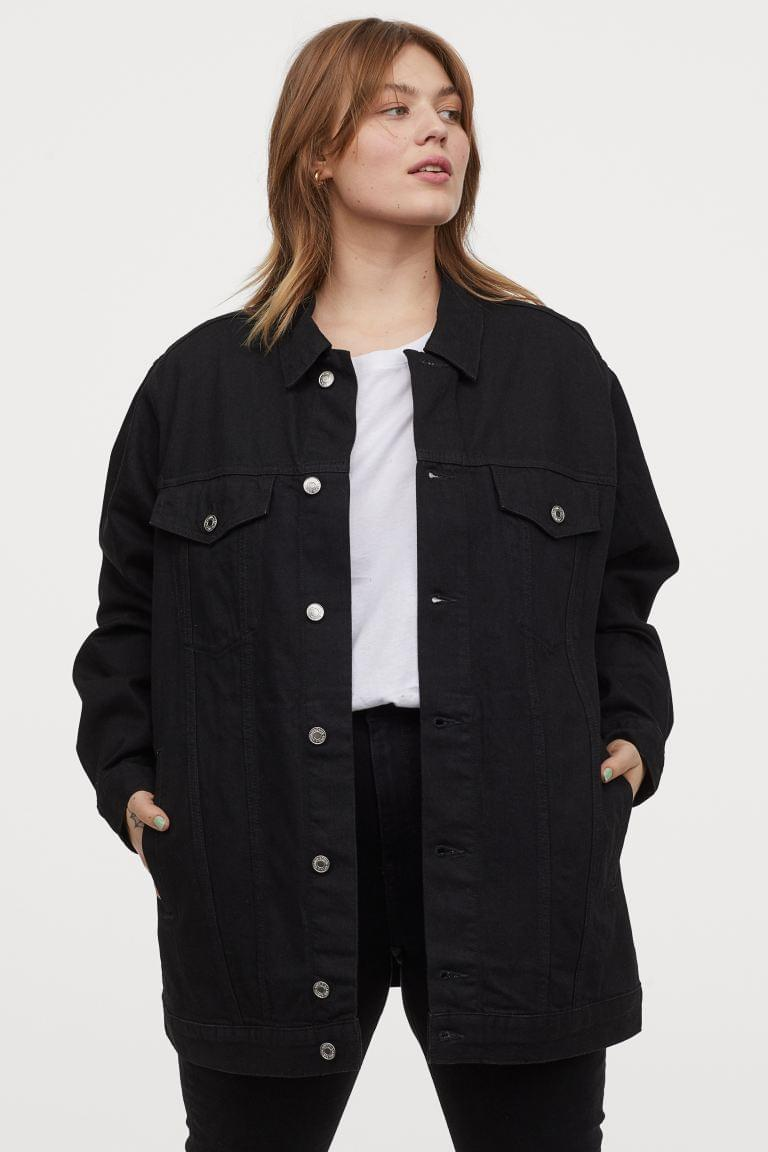 Women's H&M+ Long Denim Jacket
