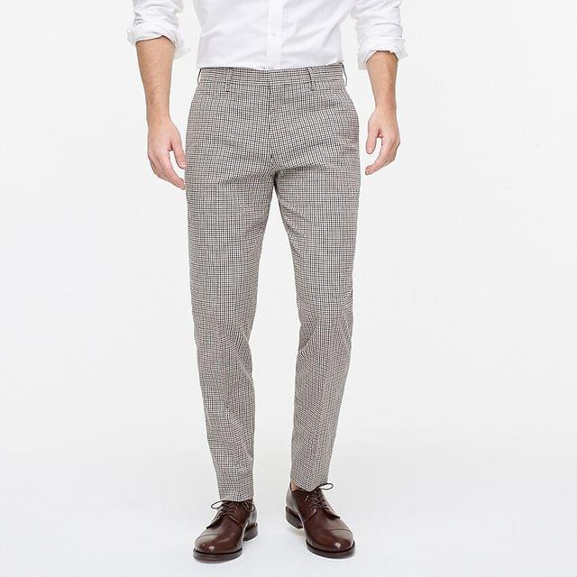 MEN Ludlow Slim-fit unstructured suit pant in Portuguese cotton-linen