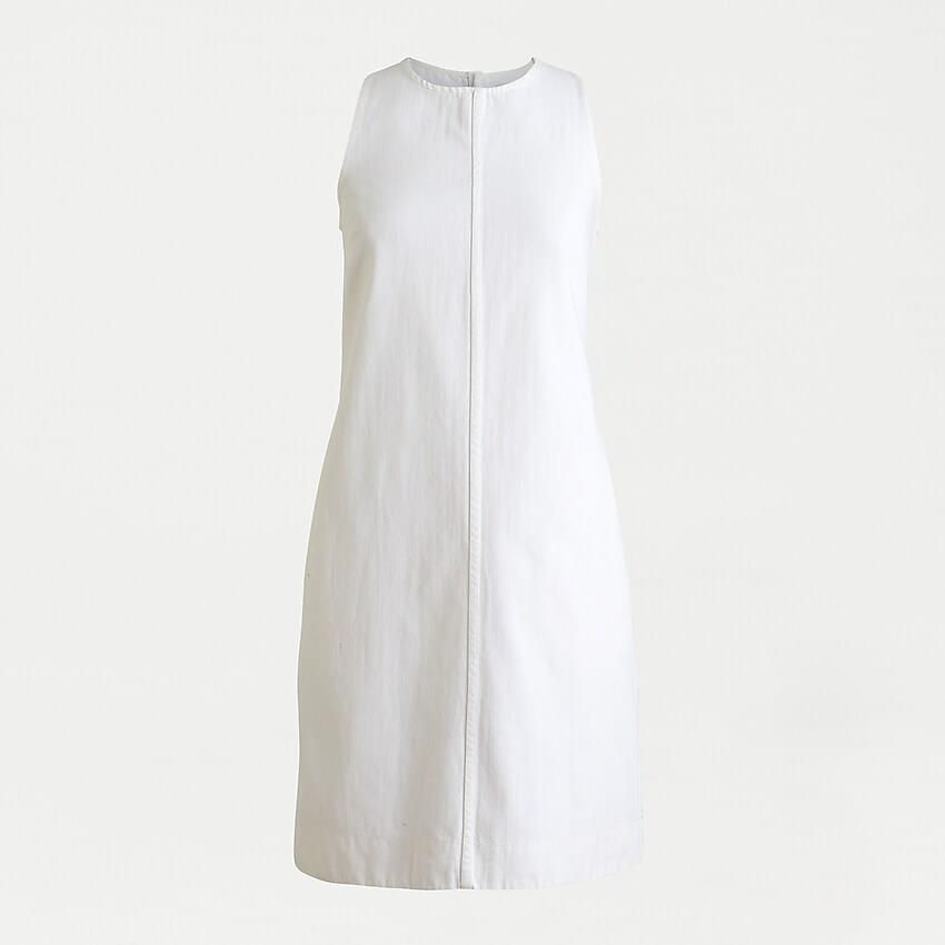 Women's Denim shift dress in white
