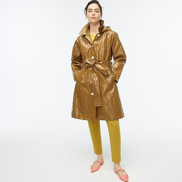 WOMEN Collection coated linen trench coat