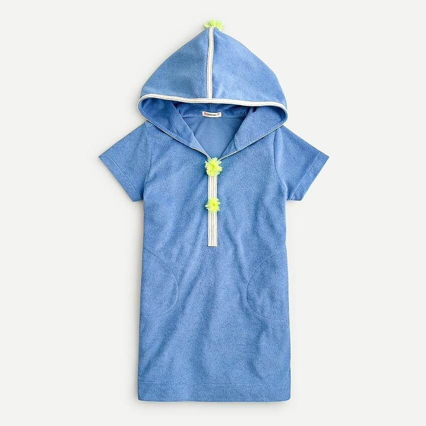 Girl's Girls' terry hoodie dress with UPF 50