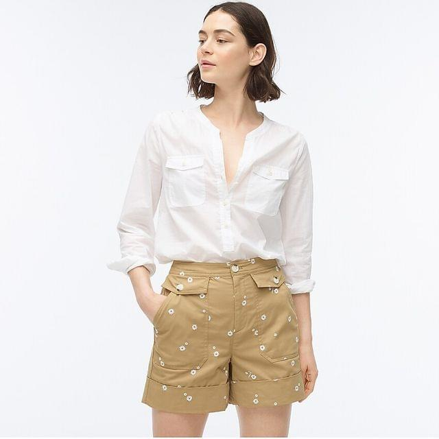 WOMEN Officer short with embroidery