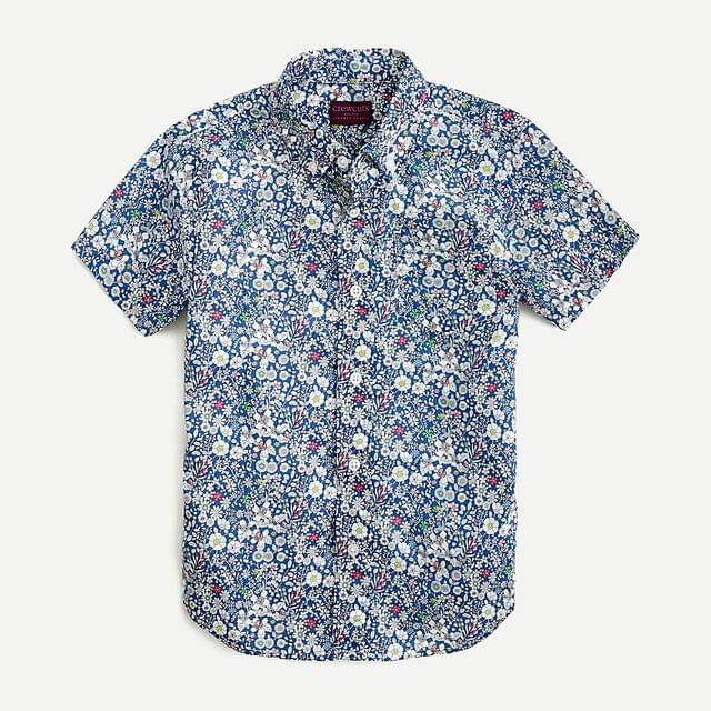 KIDS Boys' short-sleeve button-down in Liberty June's Meadow floral print