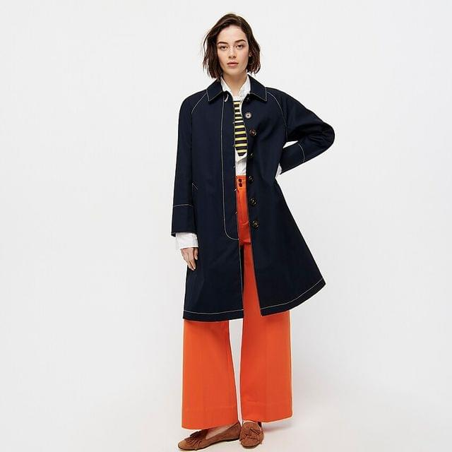 WOMEN Trench coat with contrast topstitch