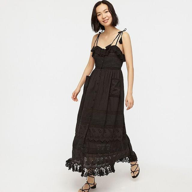 WOMEN Place Nationale Le Bouton broderie dress