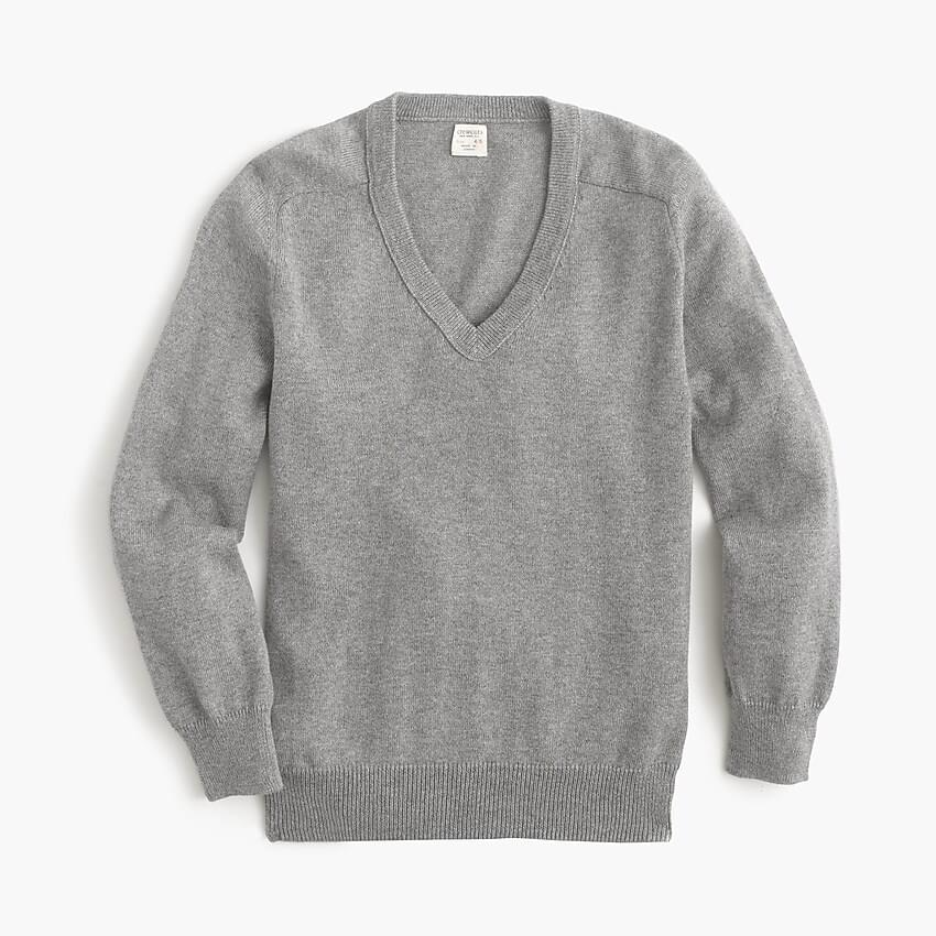 Boy's Boys' cotton-cashmere V-neck sweater