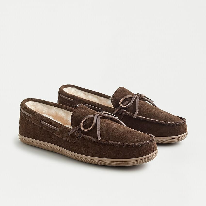 Men's Classic suede moccasin slippers
