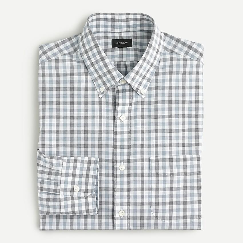 Men's Slim Ludlow wrinkle-free stretch shirt in mosaic plaid