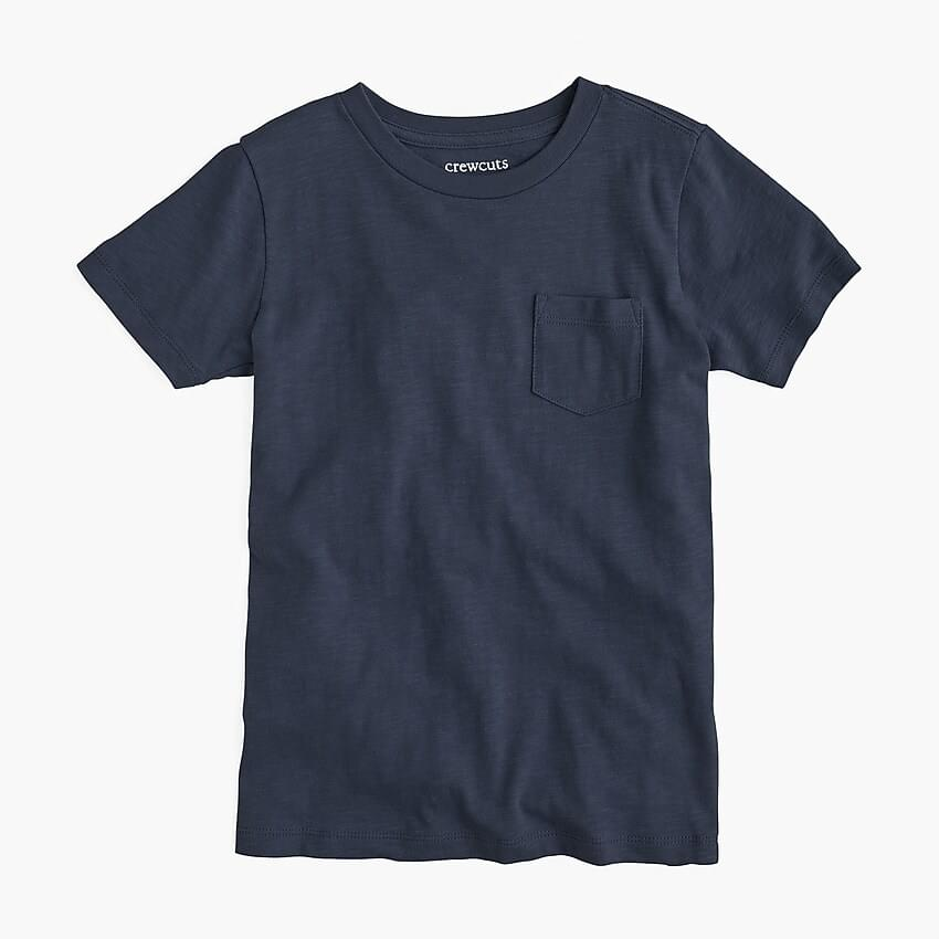 Boy's Kids' pocket T-shirt in slub cotton
