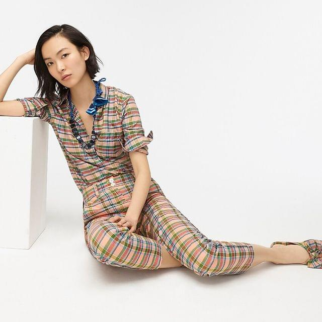WOMEN Classic popover shirt in ribbon plaid