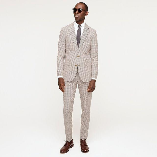MEN Ludlow Slim-fit unstructured suit jacket in Portuguese cotton-linen