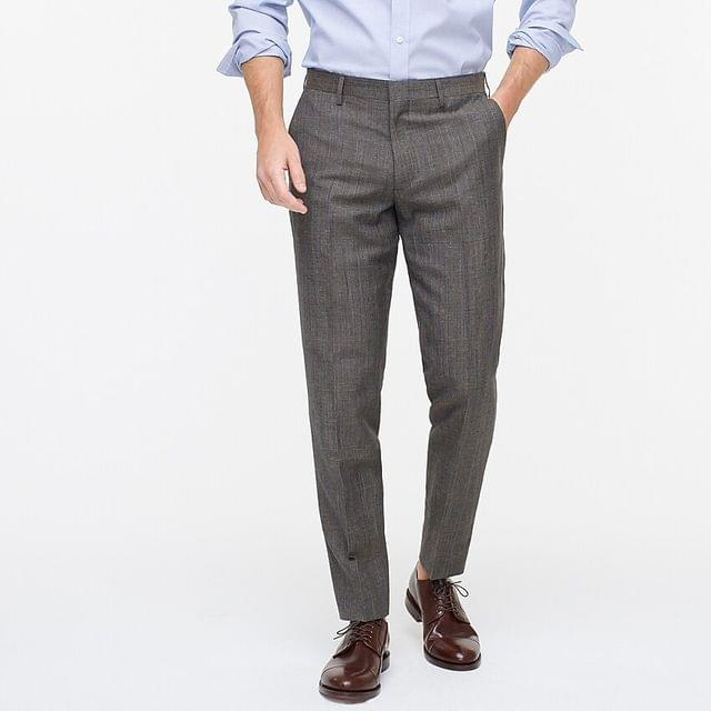 MEN Ludlow Slim-fit suit pant in Italian wool-linen