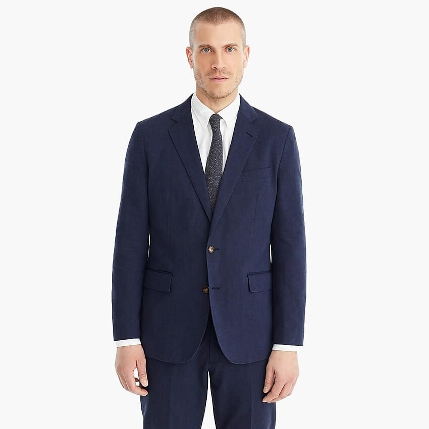 Men's Ludlow Slim-fit unstructured suit jacket in cotton-linen