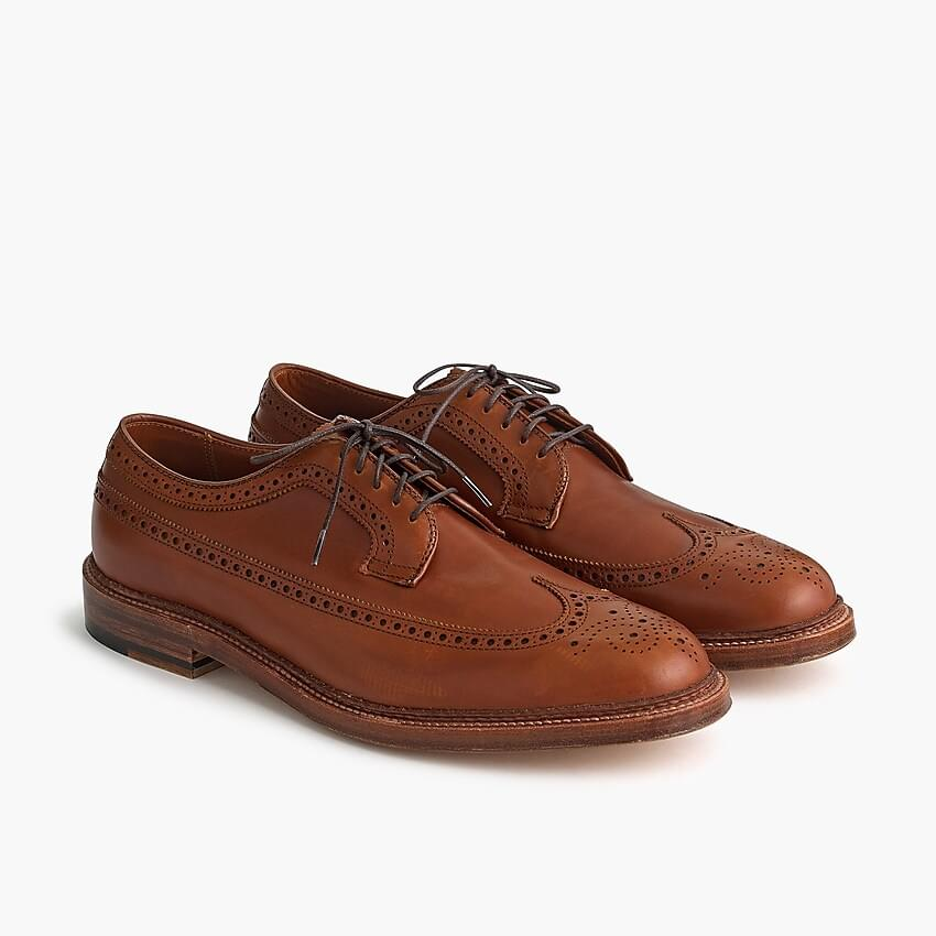 Men's Alden for J.Crew longwing bluchers in tobacco