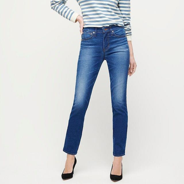 WOMEN Vintage straight jean in New England wash