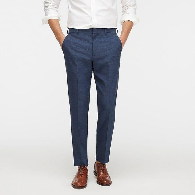 MEN Ludlow Slim-fit suit pant in stretch cotton-linen
