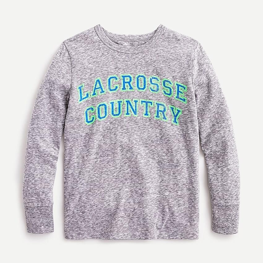 "Boy's Kids' long-sleeve ""lacrosse country"" T-shirt"