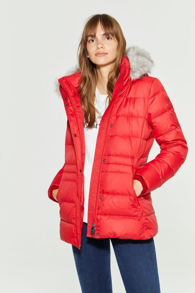 WOMEN Tommy Hilfiger Red New Tyra Down Jacket