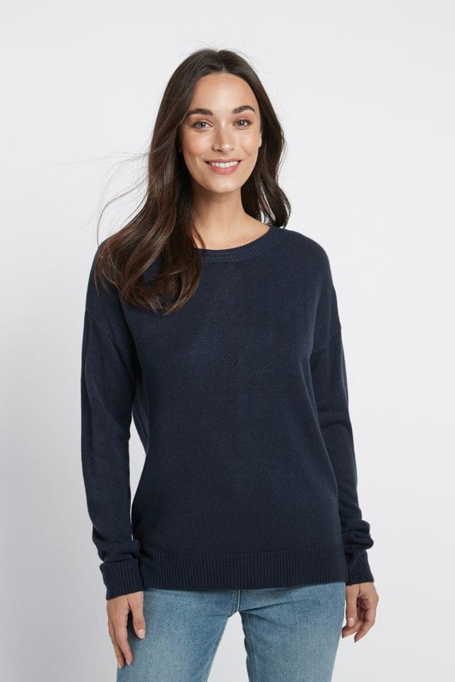 WOMEN Navy Cosy Crew Neck Jumper
