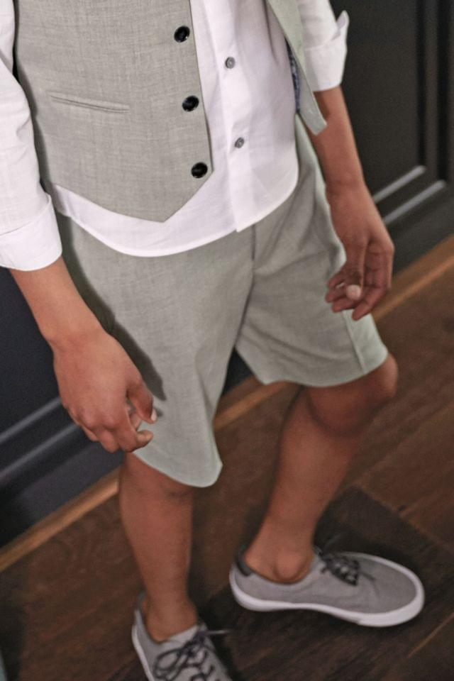 KIDS Grey Formal Shorts (12mths-12yrs)