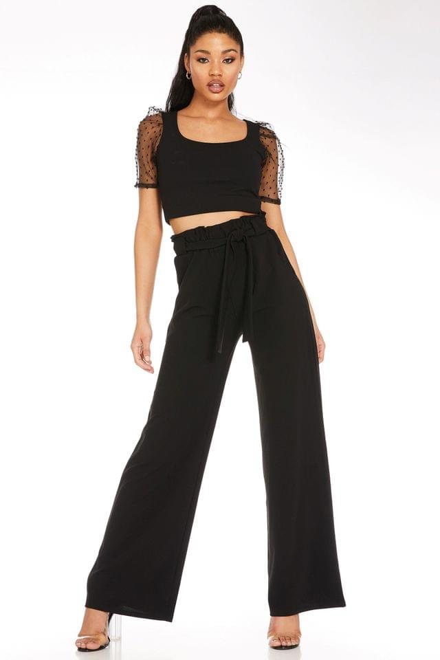 WOMEN Quiz High Waisted Palazzo Trousers