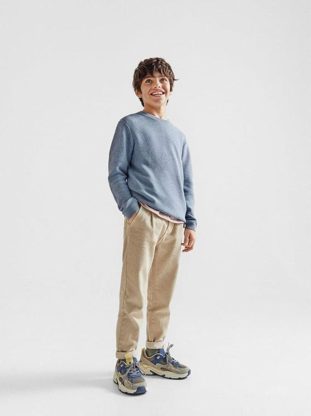KIDS PLEATED LOOSE FIT JEANS