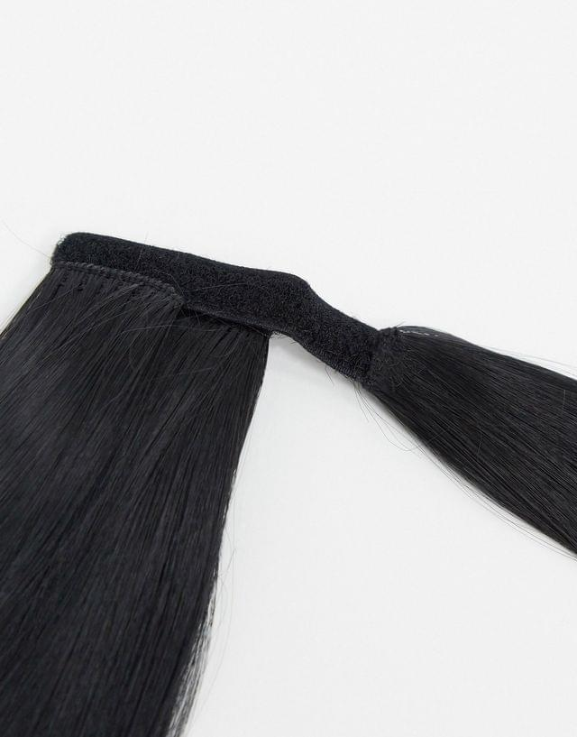 LullaBellz 26 inch straight wraparound ponytail extension in natural black