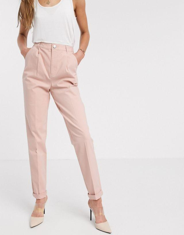 WOMEN Tall chino trousers in pink