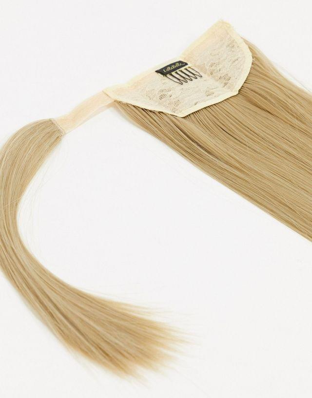 LullaBellz 26 inch straight wraparound ponytail extension in california blonde
