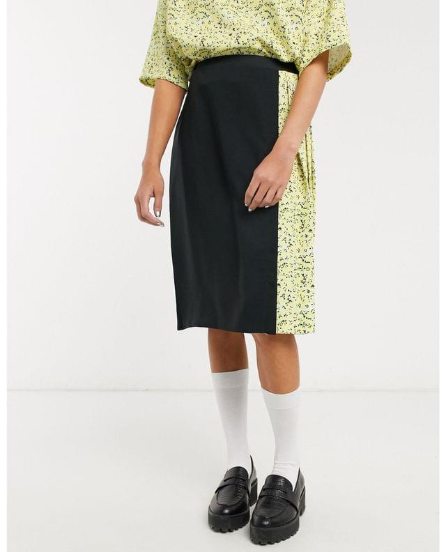 WOMEN Fred Perry floral pleated skirt