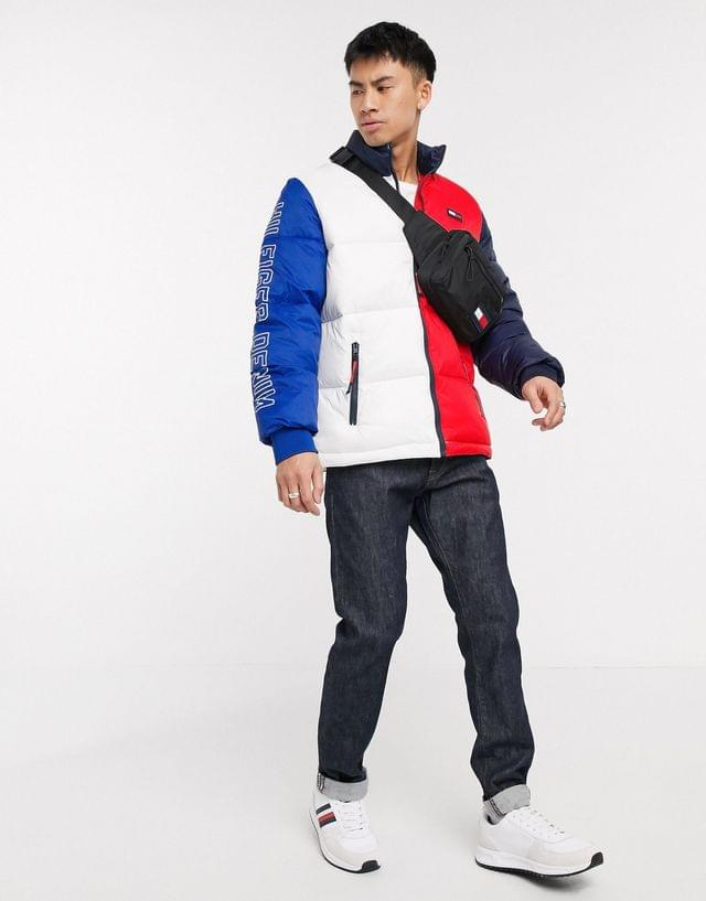 MEN Tommy Hilfiger axel colorblock jacket in white/navy/red
