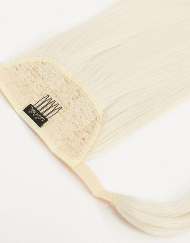 LullaBellz Lengths 26 inch straight wraparound ponytail extension in bleach blonde