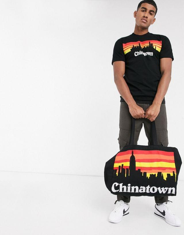 MEN Chinatown Market Skyline t-shirt in black