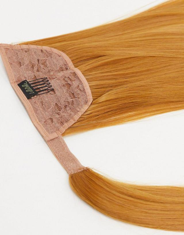 LullaBellz 26 inch straight wraparound ponytail extension in strawberry blonde