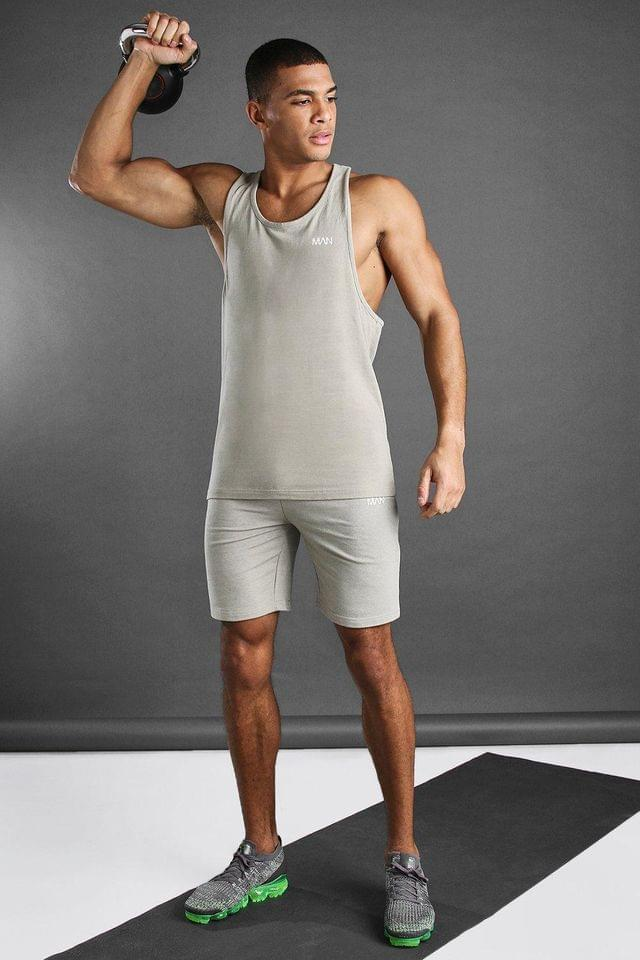 Men's MAN Active Vest And Short Set