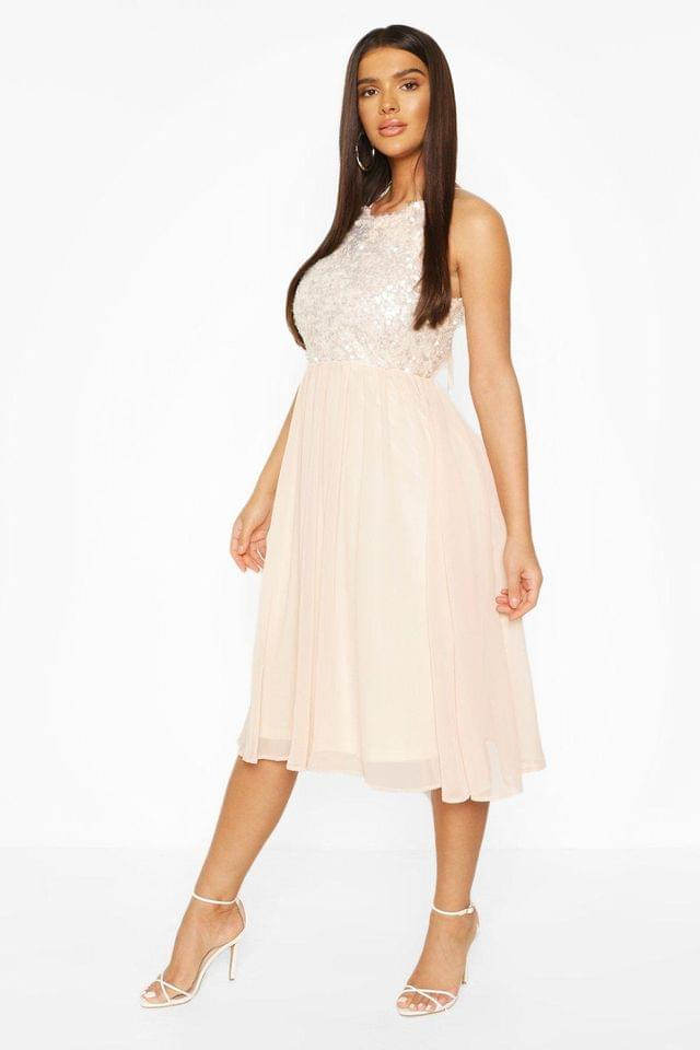 WOMEN Boohoo Occasion Sequin Midi Dress